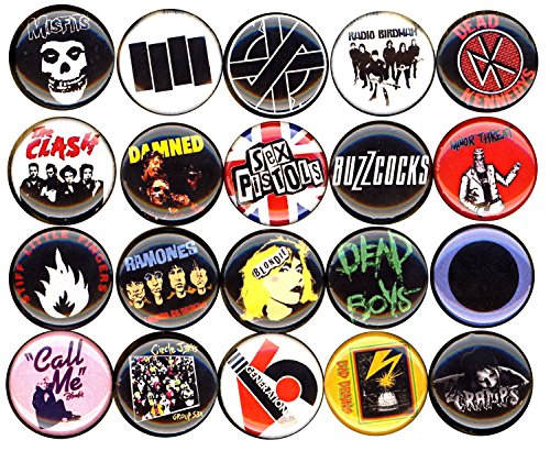 Ramones Pin Button - Punk button pin set of 20 1