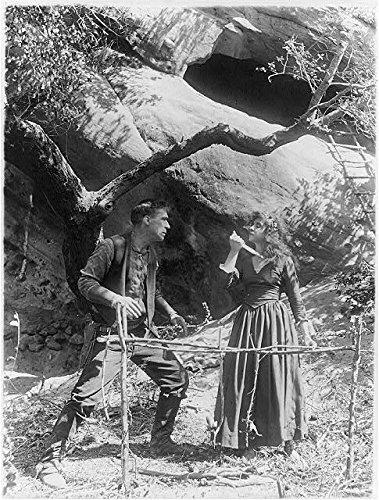 HistoricalFindings Photo: Movie Still,William S. Hart,Devil's Double,Enid Markey,Knife,Throat,1914-1926