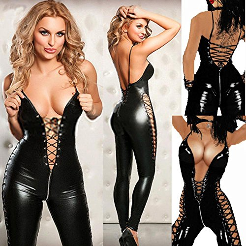 Sexy Prigionieri vestito costumi PU Wild Teddy in pelle donne Hot lingerie sexy fascino Bamboletta mini TxUOrTw