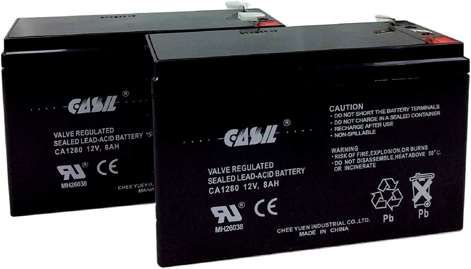 Razor e300s Battery Replacement by Casil 12v 8ah F2 2 Pack
