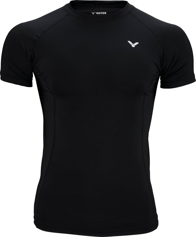 Victor Compression Shirt Uni schwarz