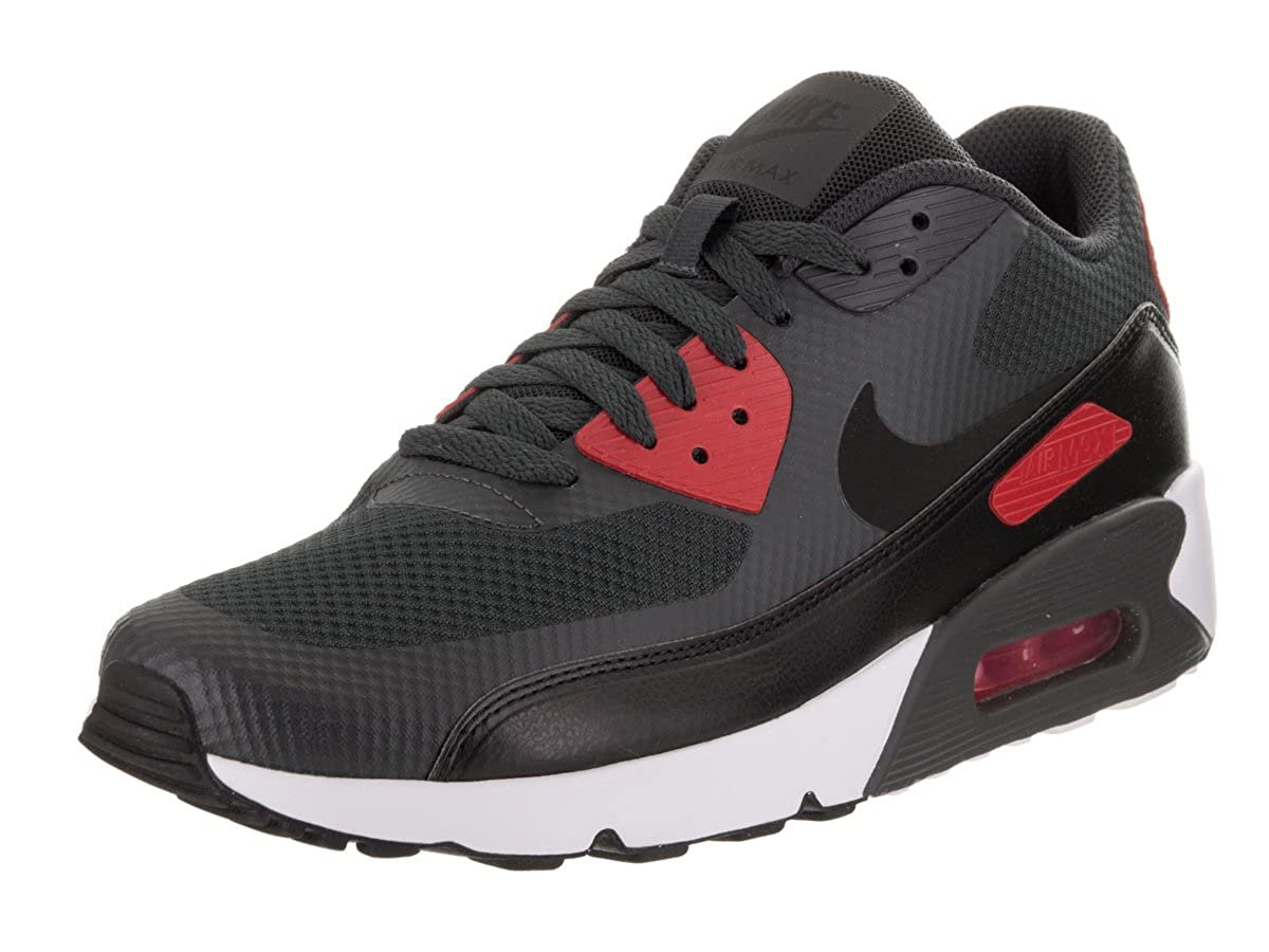 timeless design 0a008 8faa9 Amazon.com   NIKE AIR Max 90 Ultra 2.0 Essential Mens Running-Shoes  875695-007 12 - Anthracite Black-University RED-White   Road Running