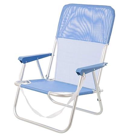 Silla Plegable de Playa Pop de Aluminio Azul Garden - LOLAhome