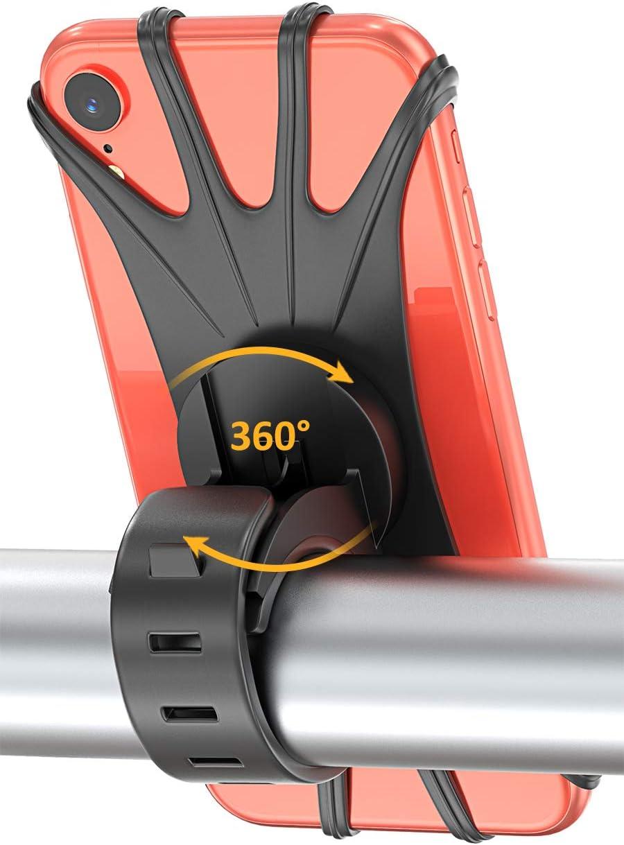 Matone Soporte Universal Manillar de Silicona para Bicicleta Motocicleta, Apoyo 360°, Rotación para iPhone X, 8/8 Plus, 7/7 Plus, 6/6S, Samsung Galaxy y 4