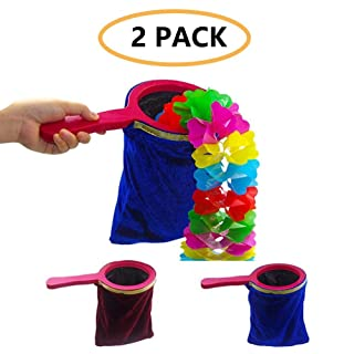 Eklead Magic Trick Change Bag, Appear Disappear Magic Trick Magic Prop Magicians Stage with Handle Appear / Disappear (2 Pezzi)