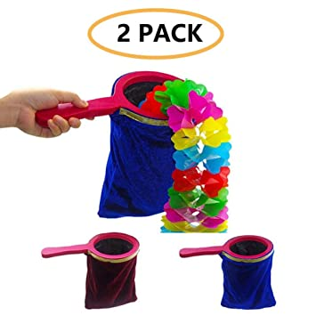 Disappear Appear Disappear Magic Trick Magic Prop Magicians Stage with Handle Appear 2 Pezzi Eklead Magic Trick Change Bag