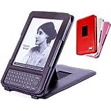 DURAGADGET`s Schutzhülle mit integriertem Stand für den Original Amazon Kindle eReader / Keyboard, schwarz