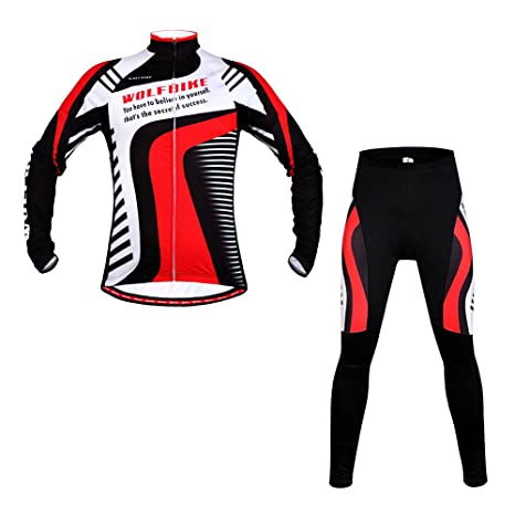 85be673e4 Wolfbike Fleece Thermal Mountain Bike Cyclewear Men Jacket Breathable  Clothing Long Sleeve Cycling Jersey and Tights