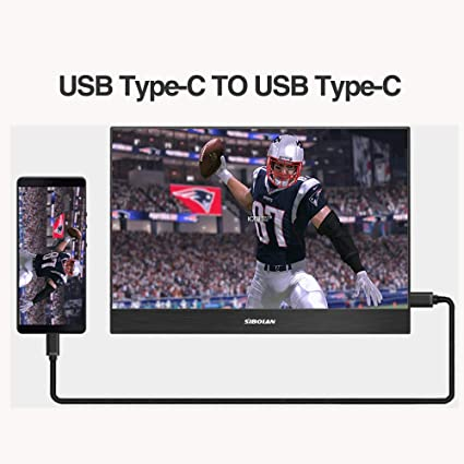 Amazon com: 13 3 Inch Portable Monitor for Laptop PC,IPS Type-C