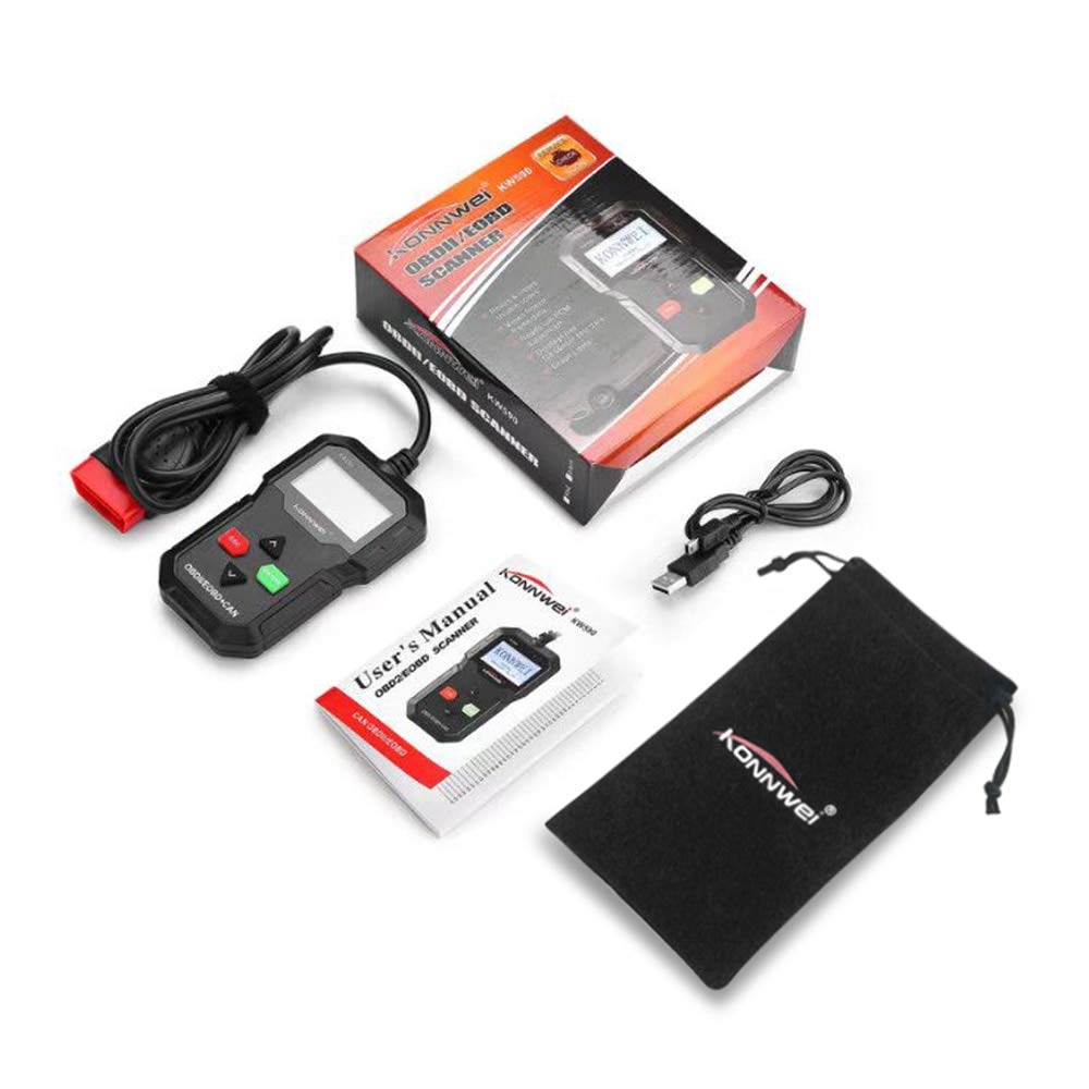 Star-Trade-Inc - KONNWEI KW590 OBD OBDII Scanner Code Reader Car Diagnostic Scanner Engine Fault Code Reader Detector Multi Language Scan Tool