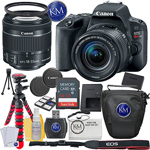 Canon EOS Rebel SL2 DSLR Camera w/ 18-55mm Lens + 64GB Card + Basic Photo Accessory Bundle