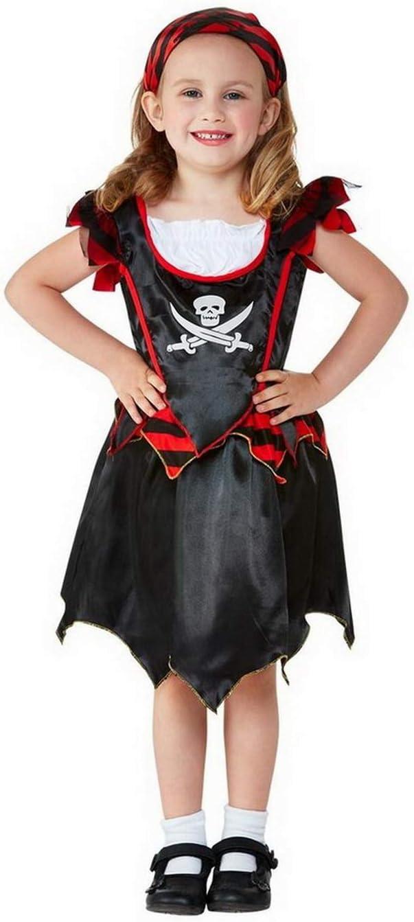 Halloweenia Disfraz de Pirata para niña, diseño de Calavera, Falda ...