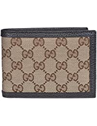 1ce3dc72274 Men s Canvas Leather GG Guccissima Bifold Wallet (Beige Brown). Gucci