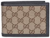 Gucci Men's Canvas Leather GG Guccissima Bifold Wallet (Beige/Brown)