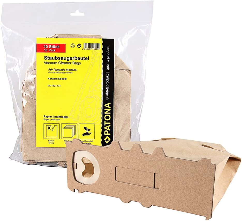 VK 131 10 Sacchetto per Aspirapolvere Filtro Clean V 130 adatto per Vorwerk VK 130