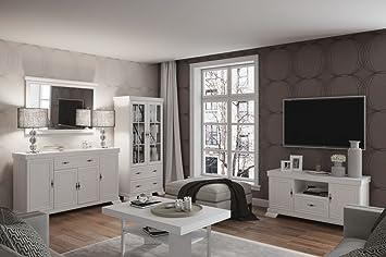 Wohnzimmer Komplett - Set F Sentis, 5-teilig, Farbe: Kiefer Weiß ...