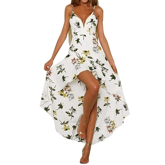 QinMM Vestido sin tirantes floral para mujer, casual vestido de noche de fiesta de sin