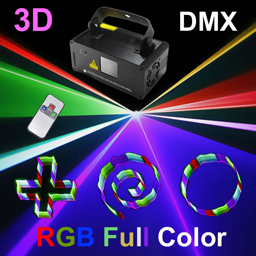 Mini 3D RGB Full Color Gobos Remote DMX 8 CH Stage Lighting DJ Dance Party Home Show Projector Lights 3D-F400
