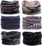KINGREE 6PCS Outdoor Magic Scarf, High Elastic Womens and Mens Headbands with UV Resistance, Headscarves, Headwear, Mask (Duke)