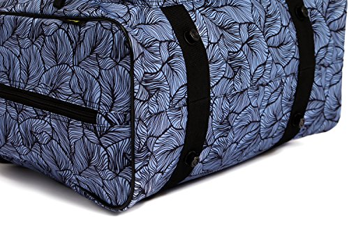 Kenley Sewing device Tote travelling bag Padded storage area Cover hauling situation by signifies of  purses and Handles standard accommodate 18x10x13 inches for Janome Brother Singer Midnight Flowers hauling Cases