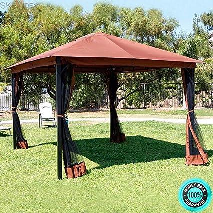 SKEMIDEX   Outdoor Home 10u0027 X 12u0027 Backyard Garden Awnings Patio Gazebo