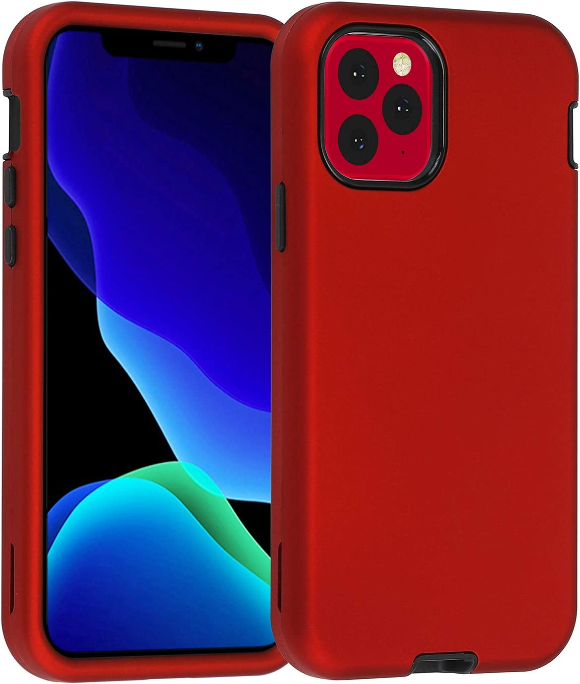 Co-Goldguard Case for iPhone 11 Pro, Heavy Duty 3 in 1 Cover Shockproof Drop-Proof Scratch-Resistant Shell Design for Apple iPhone 11 Pro 5.8 inch,Red