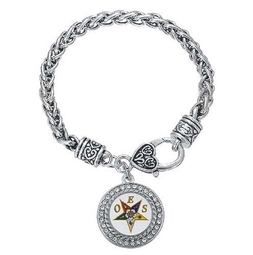 Amazon.com: OES cadena de tono de plata pulsera de eslabones ...