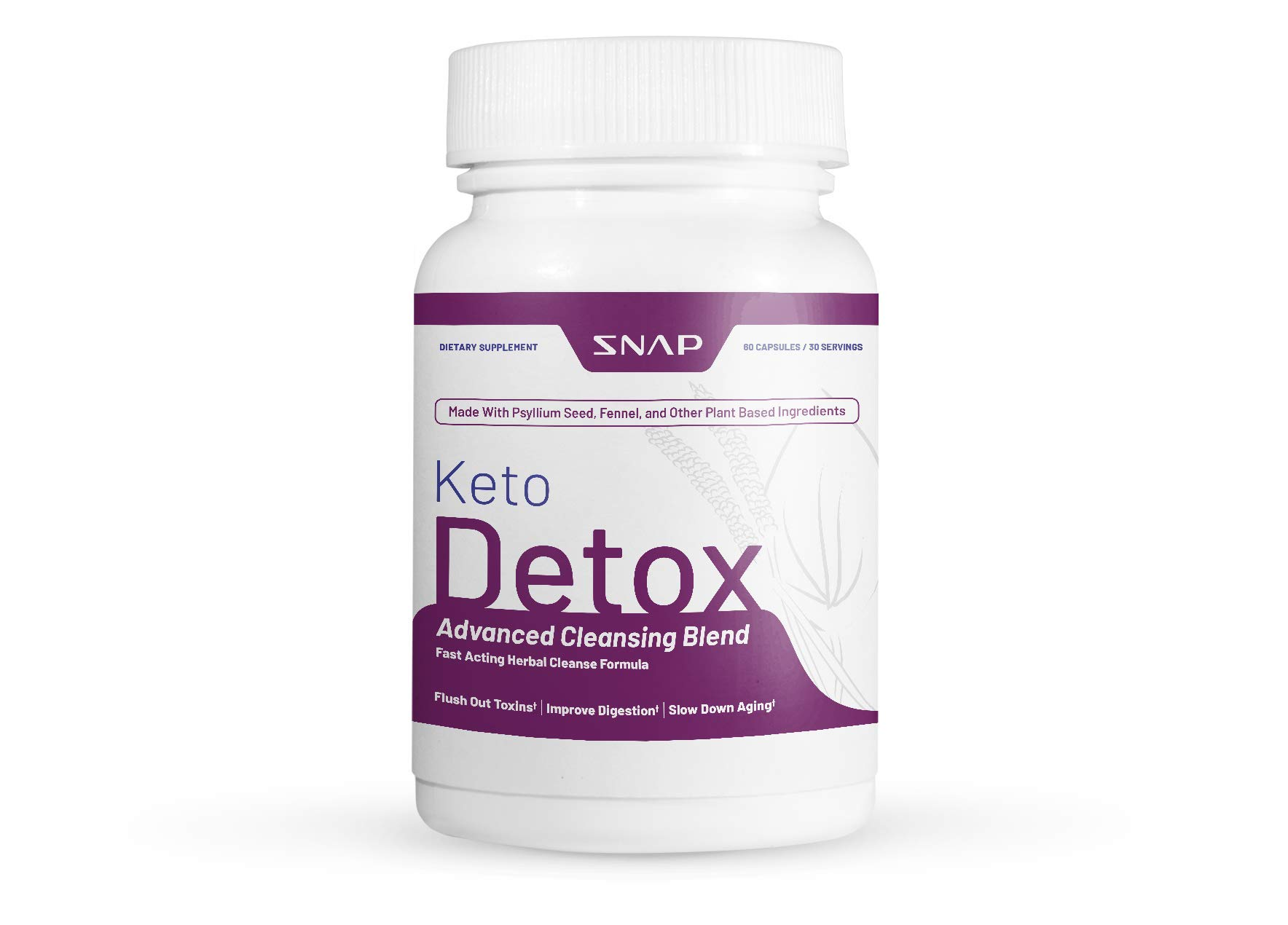 Keto Detox Advanced Cleansing Blend by Snap Supplements - 730mg Formula Flushes Out Toxins, Improves Digestion, Slows Aging - Keto Enzyme Complex for Digestion & Regularity on Keto Diet - 60 Capsules by Vital Khai