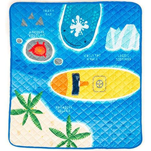 Amazon.com : Alfombra Acolchada Lavable con Submarino para Explorar el Oceano con Tu Bebe! : Baby