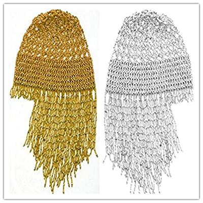 2018 Exotic Cleopatra Belly Dance Cap Beaded Headpiece Sparkling Stretch Hat Dance Costume Accessory