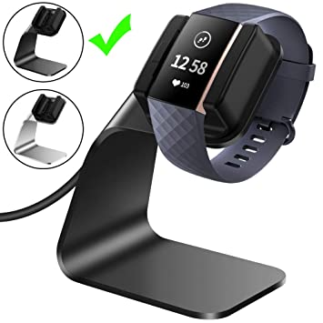 CAVN Compatible with Fitbit Charge 3 Charger Dock, (150cm/4 9ft)  Replacement Premium Aluminum Charger Dock USB Charging Cable Adapter  Portable
