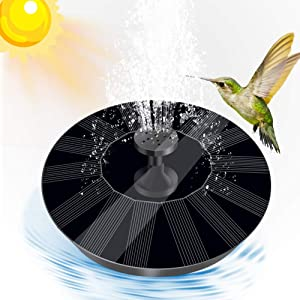 YQLOGY Solar Powered Fountain Pump,Solar Bird Bath Fountain Water Pump with 6 Nozzles, Floating Fountain Pump for Birdbath,Pond,Pool, Garden,Outdoors