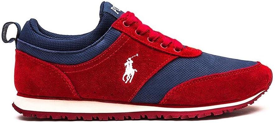 Polo Ralph Lauren - Zapatillas para Hombre Rojo Rojo 43: Amazon.es: Zapatos y complementos