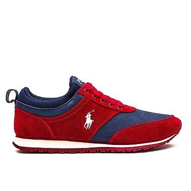Polo Ralph Lauren - Zapatillas para Hombre Rojo Rojo 43: Amazon.es ...