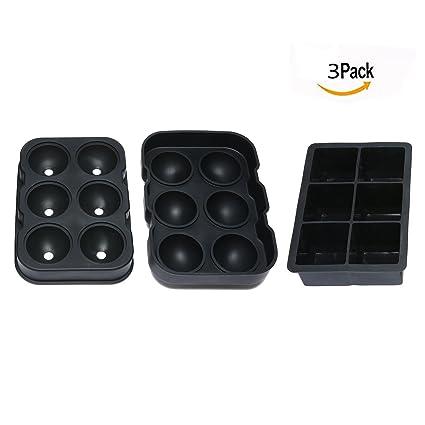 Itian Moldes para fabricar bolas y cubos cuadrados de hielo: Amazon.es: Electrónica