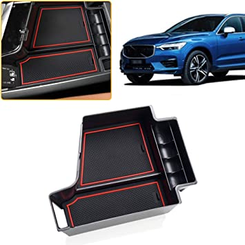 Armrest Storage Box For T esla Model X//S Center Console Organizer Insert Cup Holder ABS Tray Pallet Container With USB Hole
