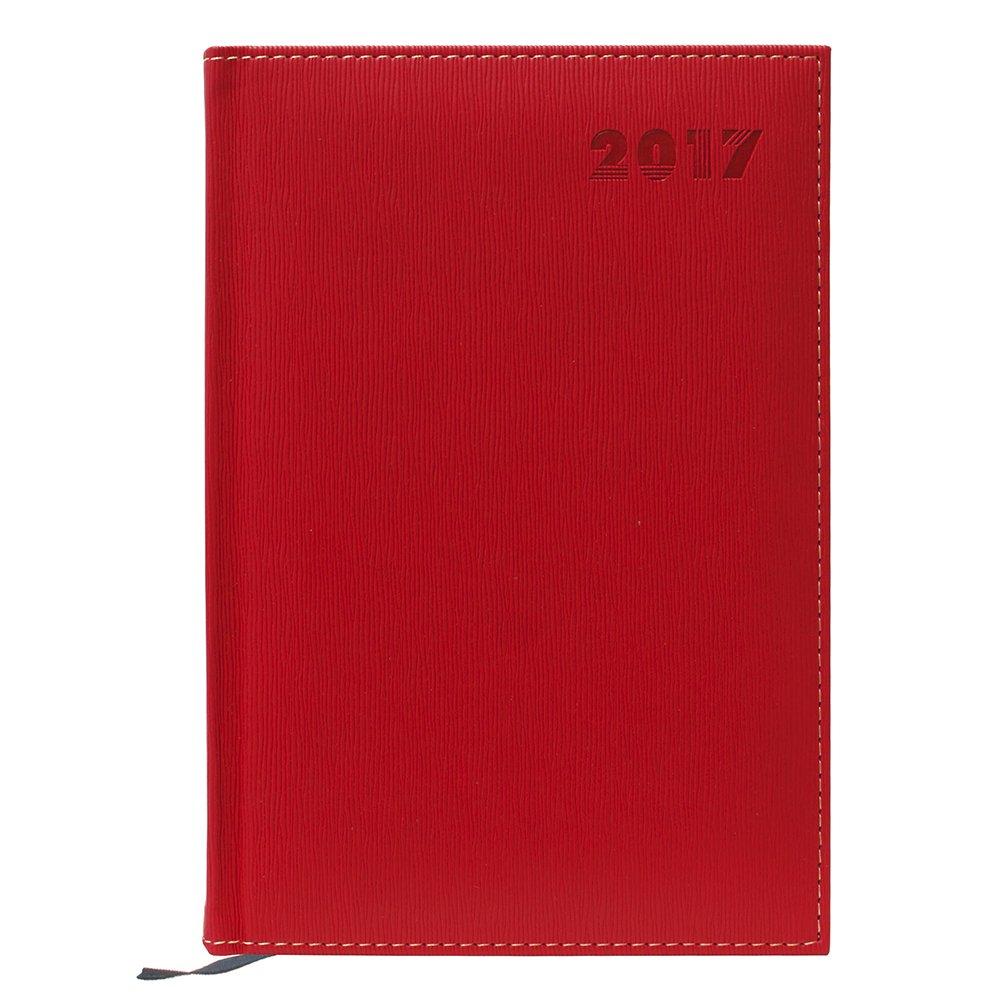 Makro Paper 17-81-A5-RD - Agenda día página, Rojo