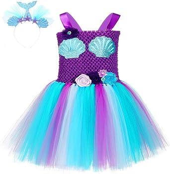 Princess Tutu Disfraz De Sirena Con Tutú Para Niña De 1 A 8 Años Hecho A Mano Para Fiesta De Halloween Con Temática De Océano Clothing