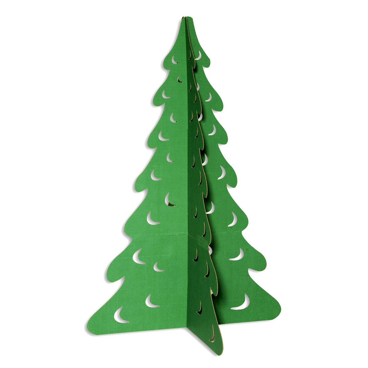 Amazon Com Green Evergreen Tree Cardboard Kit Large 5 Ft 9 Inch