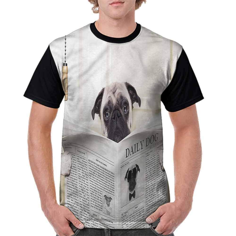 BlountDecor Trend t-Shirt,Puppy Reading Newspaper Fashion Personality Customization