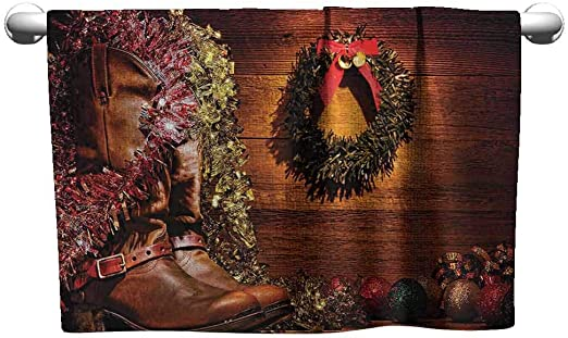 New Western Christmas Ornaments Brightly Colored Cowboy Boots Set of 4