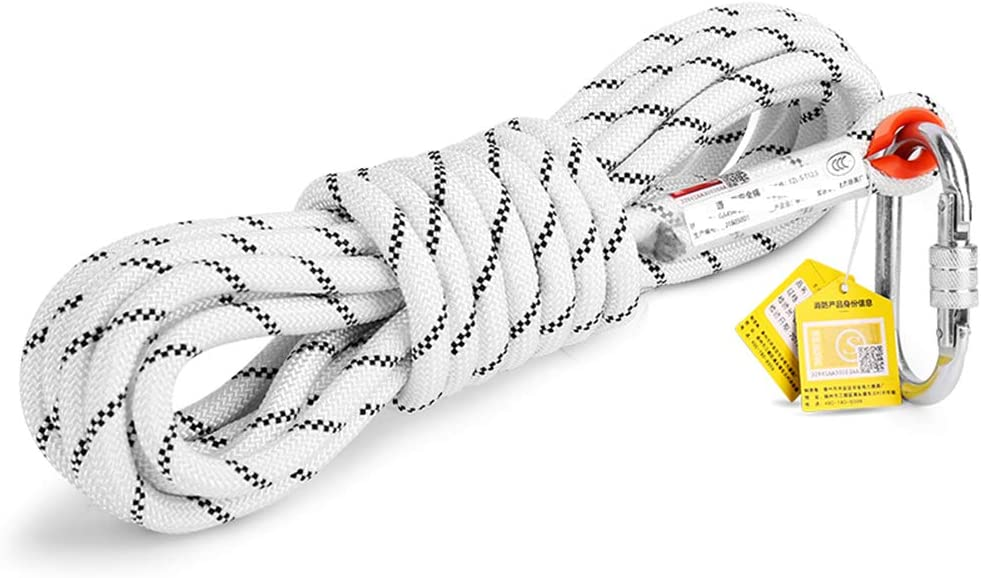 Outdoor Climbing Rope Rappelling Rope,-White-10M Fire Rescue GQP Professional Safety Rope Climbing Rope 3C Certified Fire Rope Universal Safety Rope