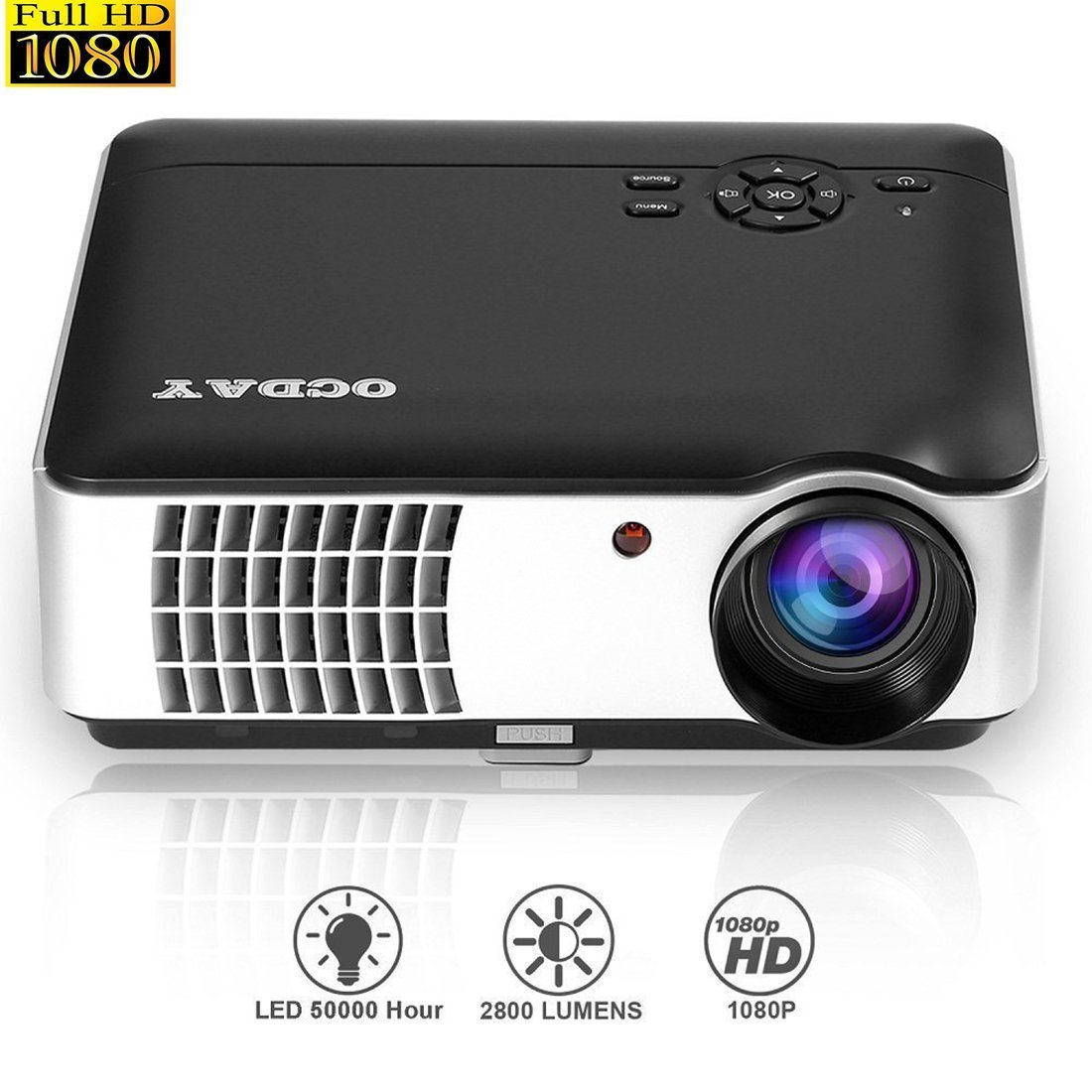 LESHP LED Proyector Cine Casa Multimedia Home Cinema x FULL HD
