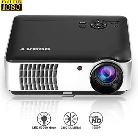LED Proyector Cine en Casa Multimedia Home Cinema (LED 150W,Videoproyector con Interfaz de Entrada HDMI VGA TV AV USB, español)