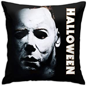 caimizogojocrz Michael-Myers Decorative Throw Pillow Covers Cushion Cases for Couch Sofa Bed Living Room Decor 18 X 18 Inch (Black -1)