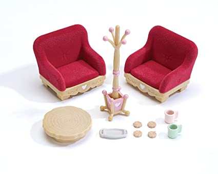 Amazon.com: Calico Critters Country Living Room Furniture Set: Toys ...
