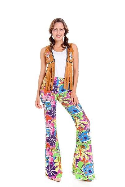 Amazon.com: Mujeres de camellos de 1960 Hippie – Disfraz ...