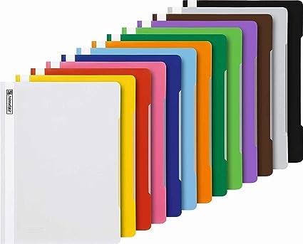 colore: Nero formato A4 confezione da 12 unit/à Brunnen Cartella organizer in polipropilene con separatori ed elastico