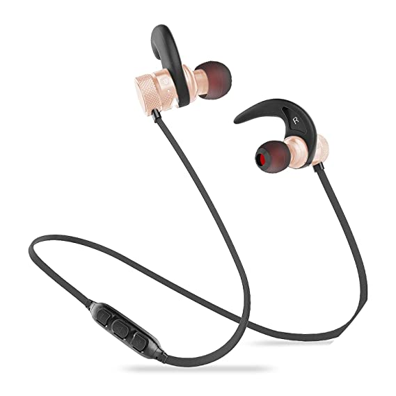 Bluetooth Earphone Wireless Headphone Sport Bluetooth Headset Auriculares Cordless,Golden Earphone,C