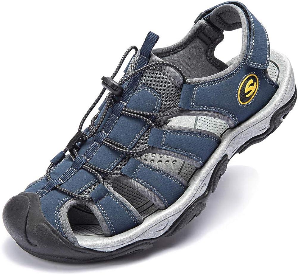 KIIU Mens Closed Toe Sandals Sport